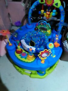 Exersaucer and Stand alone jolly jumper
