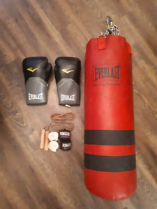 Heavy Bag + Boxing Gloves & Accessories