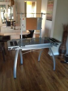 GLASS DRAFTING TABLE/DESK IN EXCELLENT CONDITION