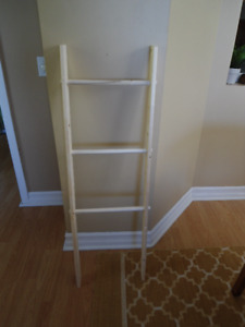 "Unfinished 'Blanket/Towel Ladder' Approx 48""H, 16""W - 3 Rungs"