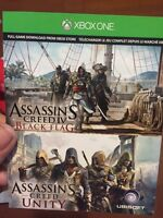 Assassins creed black flag and unity for Xbox one