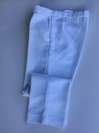 Men's white lawn bowls trousers