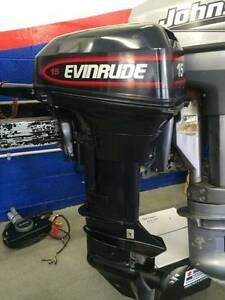 Evinrude 15hp Tiller Steer Short Shaft Portable Outboard Motor North Haven Port Macquarie City Preview
