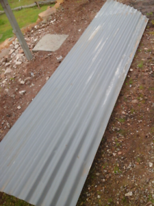 ROOFING IRON SHEETS. TWO PIECES.REDUCED! AGAIN!