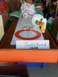 Shuffleboard Table 12' with rocks and sand $100