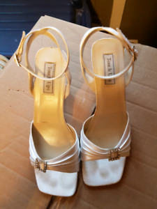 Size 10W bridal sandals