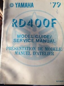 1979 Yamaha RD400F Model Guide/Service Manual