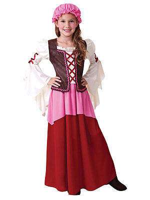Victorian Edwardian Little Nell Tavern Girl New Fancy Dress Costume For - Victorian Costume For Kids