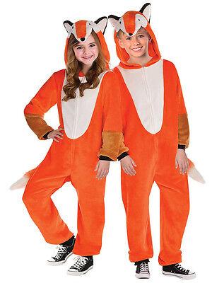 Kids Mr Fox Zipster Costume Boy Girl Animal World Book Week Book Day Fancy - Boys Fox Costume