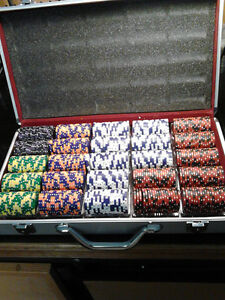 Poker Chip Sets with aluminum cases