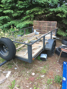 8 foot trailer with fold down gate.