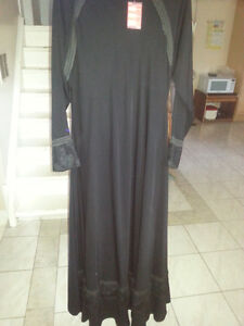 Beautiful Black Abaya with heavy emboridery with tag on it