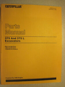 Caterpillar CAT-375 & CAT-375L Excavator Parts Manual