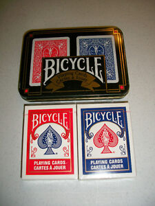 Tin, Bycicle cards blue & red