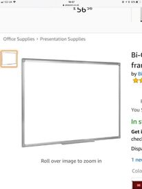 Bi-Office Dry-wipe magnetic white Board 180 x 120 factory sealed RRP £160