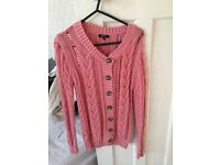 Pink knitted cardigan size 8 from Matalan