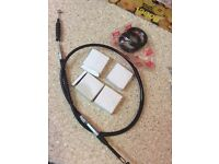 Dtr 125 clutch cable wheel beings &fork seals brand new