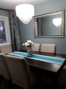 Extendable dining table (add chairs for $50 each)