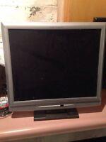 2 flat screen computer monitors