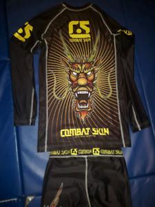 Combat Skin/Meerkatsu BJJ/ MMA rash guard/Spats