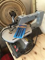 Scroll saw and blades. WHAT A DEAL