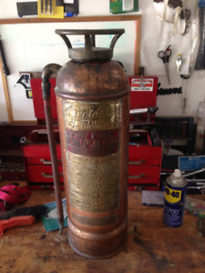 BRASS ANTIQUE FIRE EXTINGUISHER