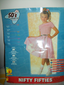 Nifty Fifties, Rubies Child Costume, Poodle Skirt Dress, Girls L