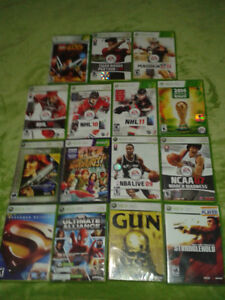 STACK OF XBOX 360 GAMES $5  SPORTS GAMES AND ACTION GAMES