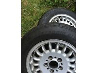 BMW 2 wheel rims & tyres