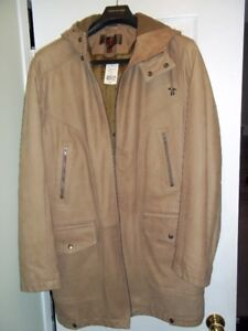 BRAND NEW WITH TAG DANIER Men Cowhide Leather Jacket Winter sz L