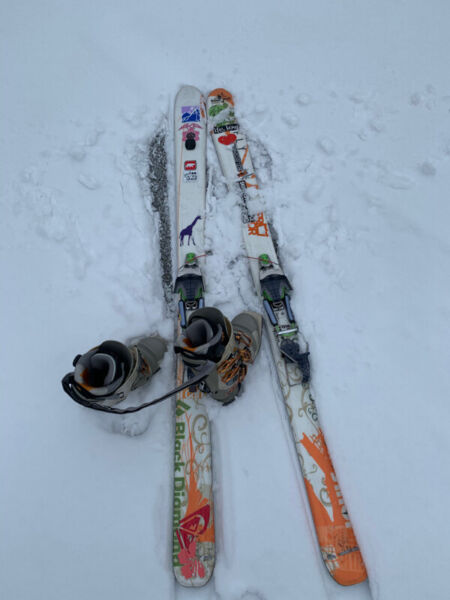 Telemark skis+bindings+boots+skins = backcountry touring dream