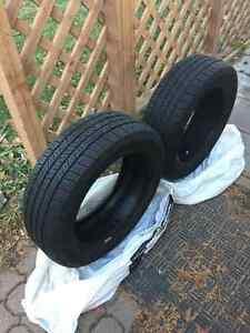 Pair Of 205/55/16's Goodyear All Season Tires Like New