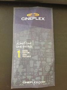 Cineplex adult general admission ticket