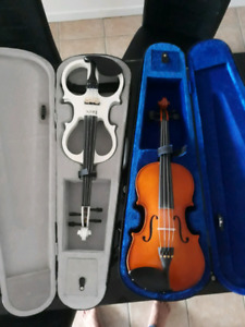 Violon acoustique+violon électrique à 200$!!!!