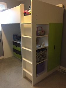 Ikea Stuva Loft Bed w. Desk, Chair, 4 Drawers & 2 Doors