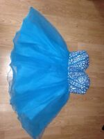 blue/turquoise-purple sequin-sparkly turquoise dress