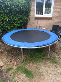 8 ft trampoline with enclosure - Free to pick up