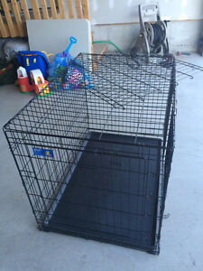 Folding Double Door Dog Crate-Large