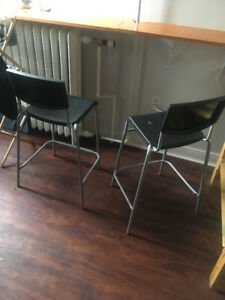 4 Ikea bar stools/chairs
