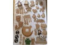 Job lot of MDF wooden items ready to decorate