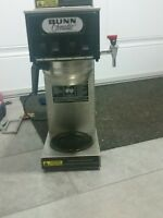 BUNN 3 BURNER COFFEE MACHINE WITH HOT WATER TAP