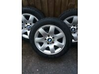 4 lovely BMW alloys with tyres