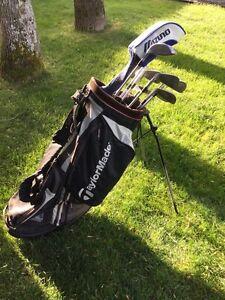Bâtons de golf plus sac