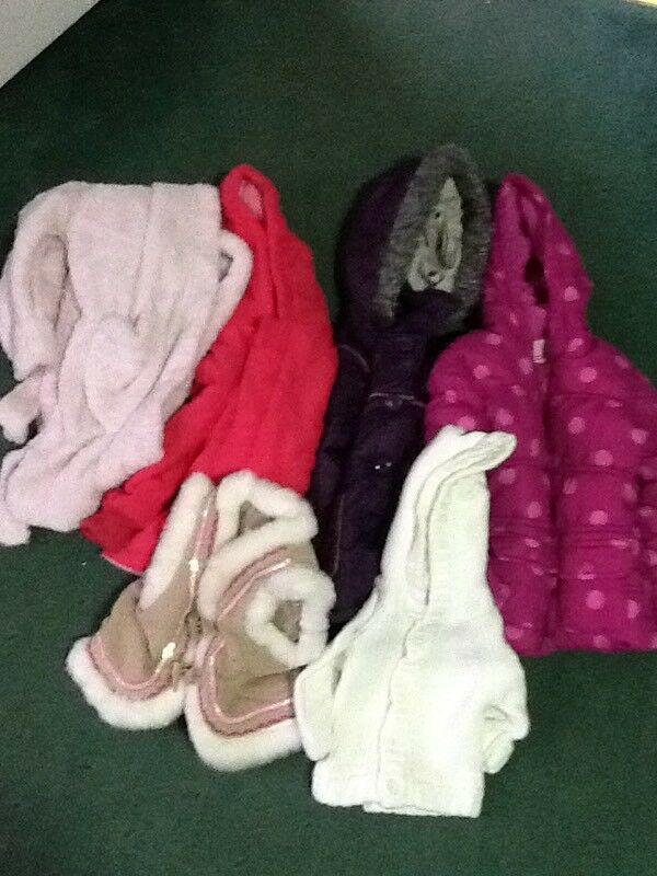 Girls bundle of coats and tops.