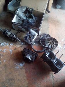 Pièces de moteur 503 cranq cylindres et + skandic 1997