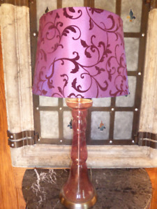 2x Purple Table Lamps
