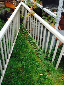 2 - aluminum railings