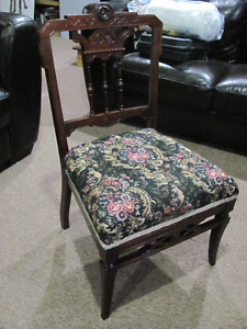 ANTIQUE PROFESSIONALLY REFINISHED BABY FEEDING CHAIR asking $85