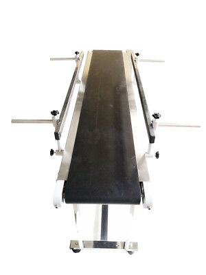 Small Conveyor-1.2m Double Guardrail Pvc Belt Conveyor7.8 Wfree Shipping Best