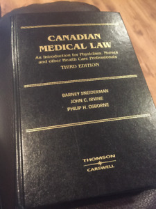 Canadian Medical Law Textbook 3rd Edition for sale